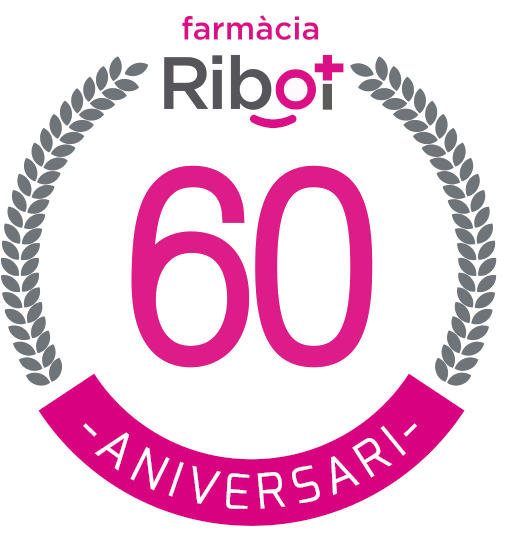 logo farmacia ribot 60 aniversario