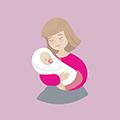 icono de mamá con bebé