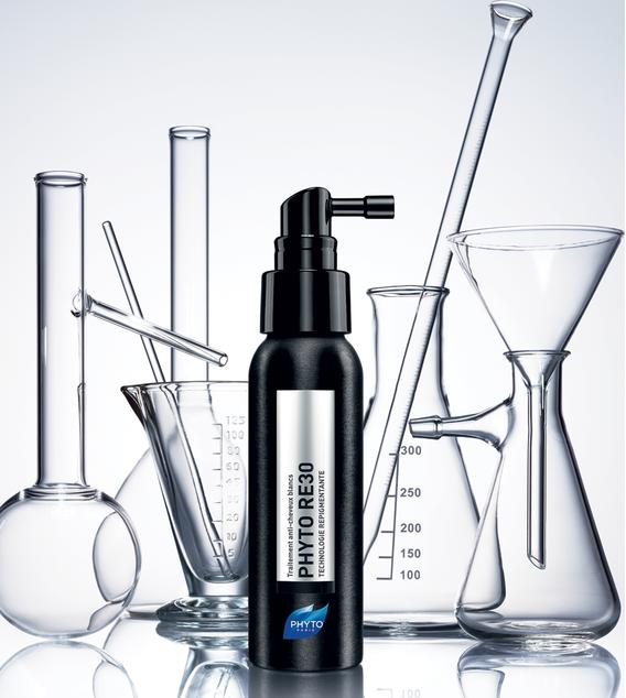 Producto Phyto y recipientes cristal